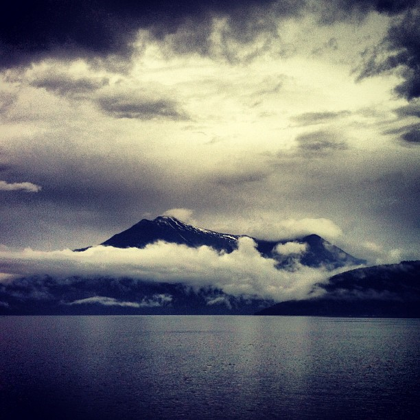Ferry crossing over Upper Arrow Lake in our way to Kaslo Folk Festival. (Taken with  Instagram )