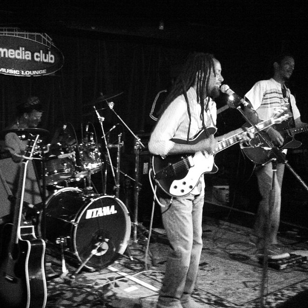 After Roots & Blues, we had a bit of a reunion at the Media Club for Taj Weekes' awesome reggae show. The Boom Booms, Five Alarm Funk and a bunch of my crew came out to see our new friend from the festival. And we were all captivated, we danced the whole night. Wonderful evening! (Taken with Instagram)