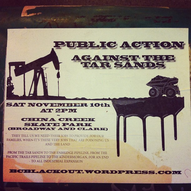 We need to stop the Tarsands first and foremost. No Tarsands No Pipeline