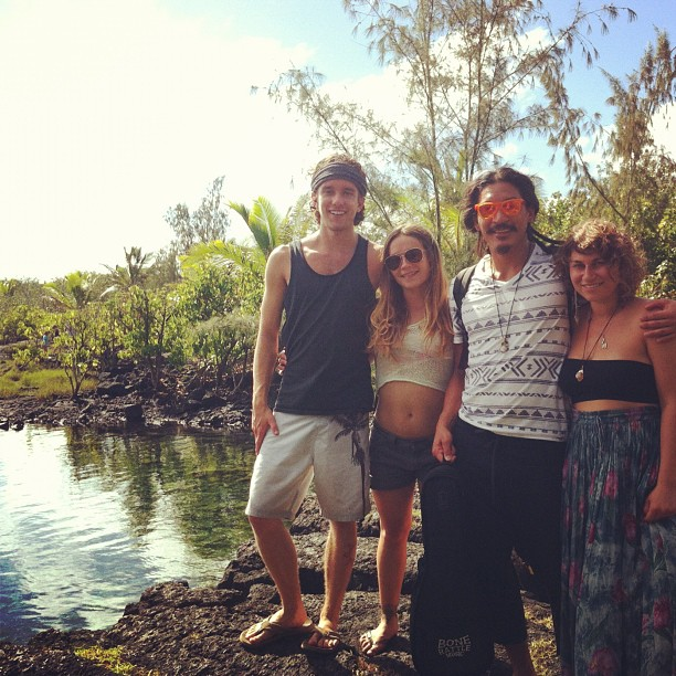 Tanner, Jackie, Alessandra and myself at the tide pools (at Waiopae Tidepools)