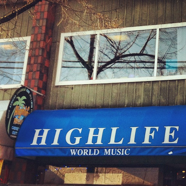 My favourite record store! Highlife has adv tickets for jan25 @electricowl_ca  (at Highlife World Music)
