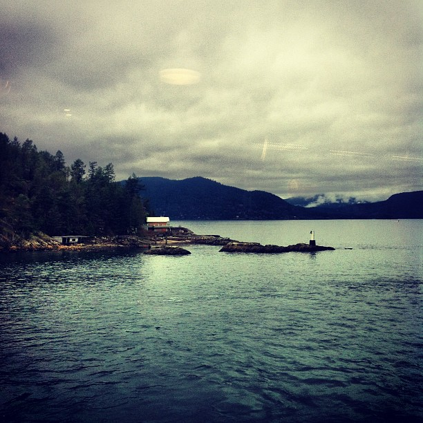 Starting our Vancouver Island tour. Looks gloomy in the photo but actually not too bad in real life! Feeling sunny inside. Looking forward to being back in Tofino tomorrow, Duncan on Thurs and Victoria on Friday. Bringing a lot of reggae and soul with my 3-piece. Big Love. (at BC Ferry (Queen Of Surrey))