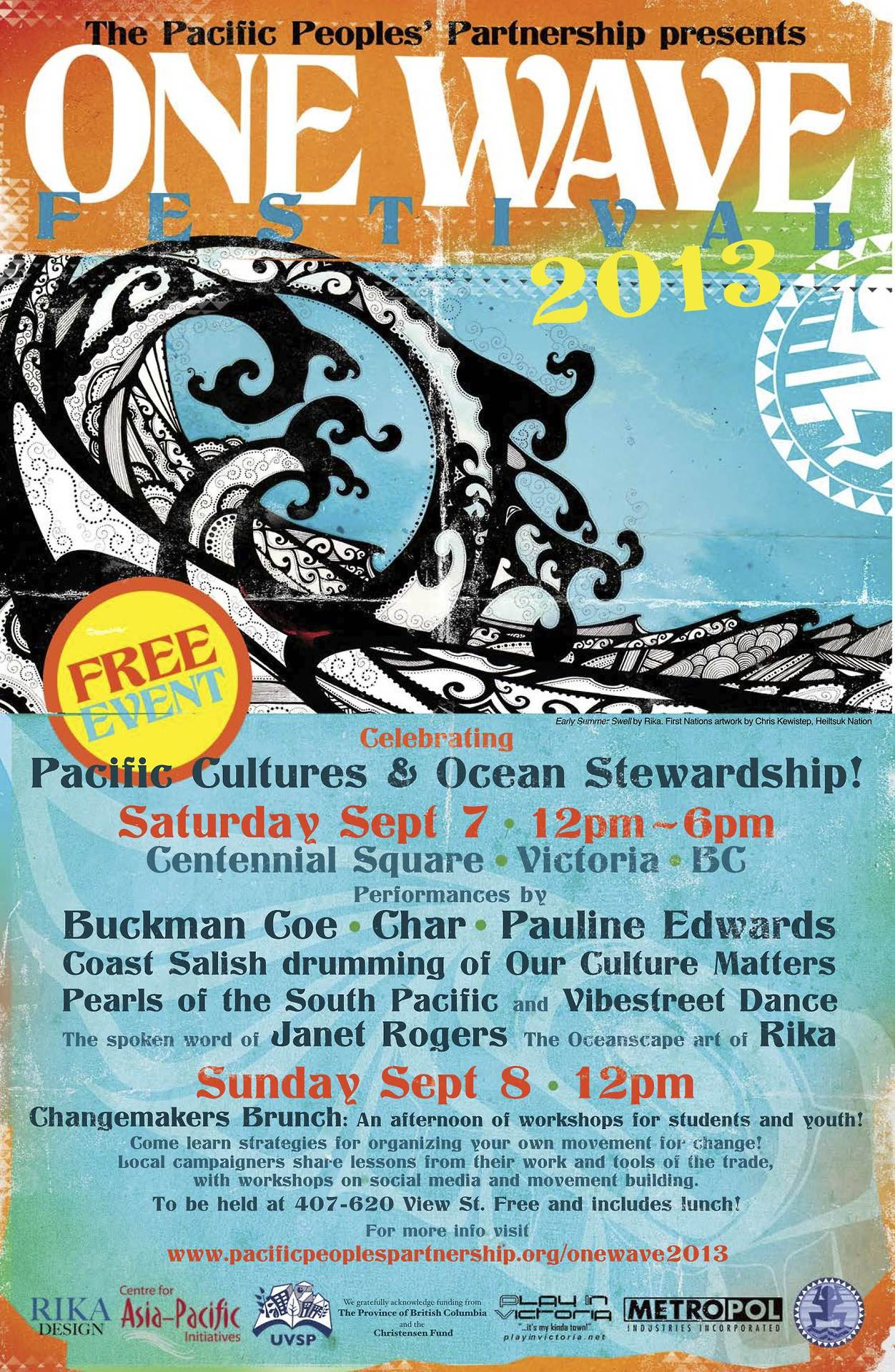 This weekend, we are heading to Victoria BC for a family-friendly festival celebrating our common connections with the Pacific Islands. There will be music, workshops, and speakers exploring how food and water security, climate change and ocean stewardship are affecting Pacific communities North and South. It's an honour to be invited to this event and I'm excited to be on the Islands this weekend!
