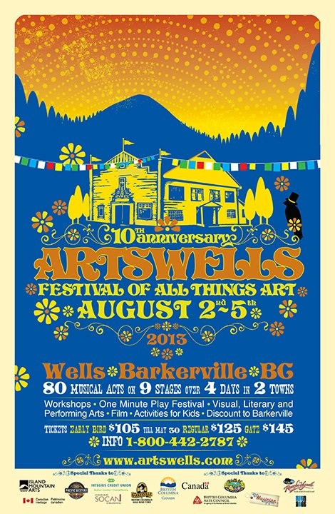 This weekend we head up to northern BC for Artswells Festival of All Things Art. Very excited for this one, from everything I've heard it is a often wild party, a love-in for musicians and artists and unlike any other festival. Will let ya know..   https://www.facebook.com/artswellsfestival