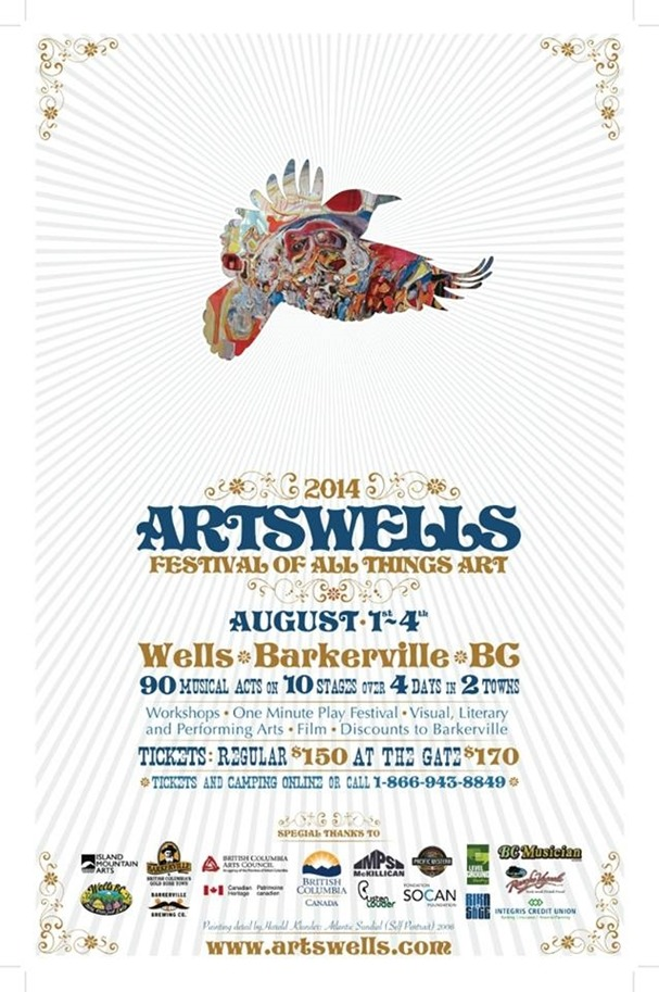 One of my favourite festivals of all time, in the sweetest old town in BC. Really looking forward to this one. The people and bands that come are the friendliest and earthiest folks. Artswells kicks off our summer tour through BC and Alberta!!