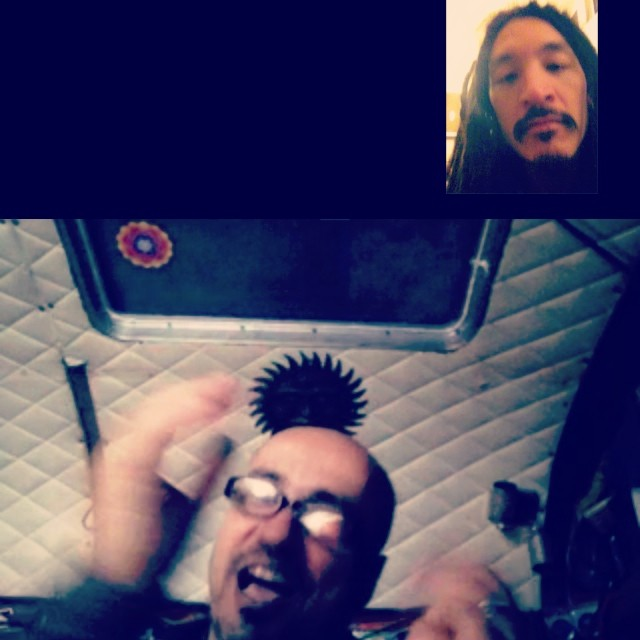 FaceTime Jams with Adham Shaikh, getting our recording plan down from afar.