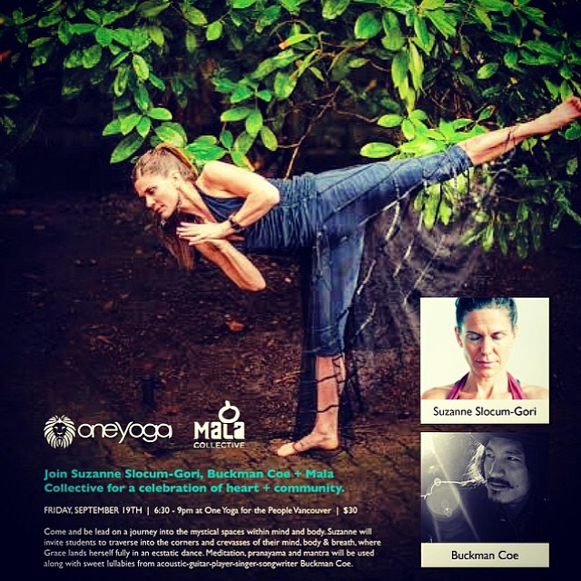 This Friday Journey into the Mystic at @oneyogavan with @suzannefaithyoga #yoga #breath #dance #music 630-9pm  http://oneyogaforthepeople.ca/