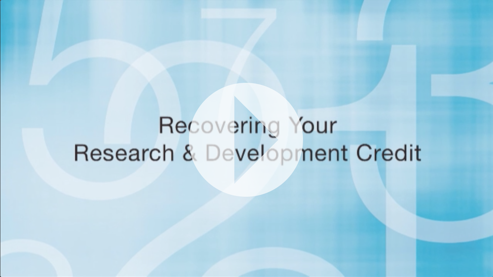 Research & Development Credit Overview by Mike Carlson