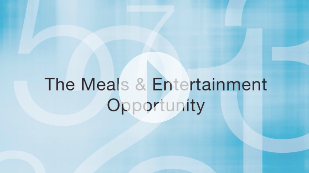 Meals & Entertainment Overview by Mike Carlson