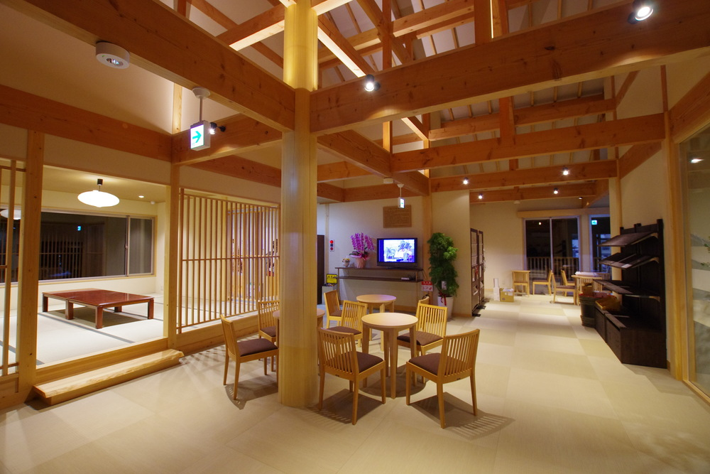 Lobby of Happo Onsen