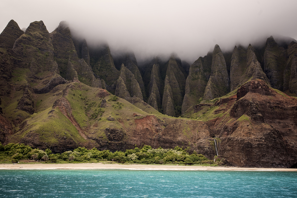One of my favorite images from the trip was captured via boat, looking onto the Na Pali Coast.