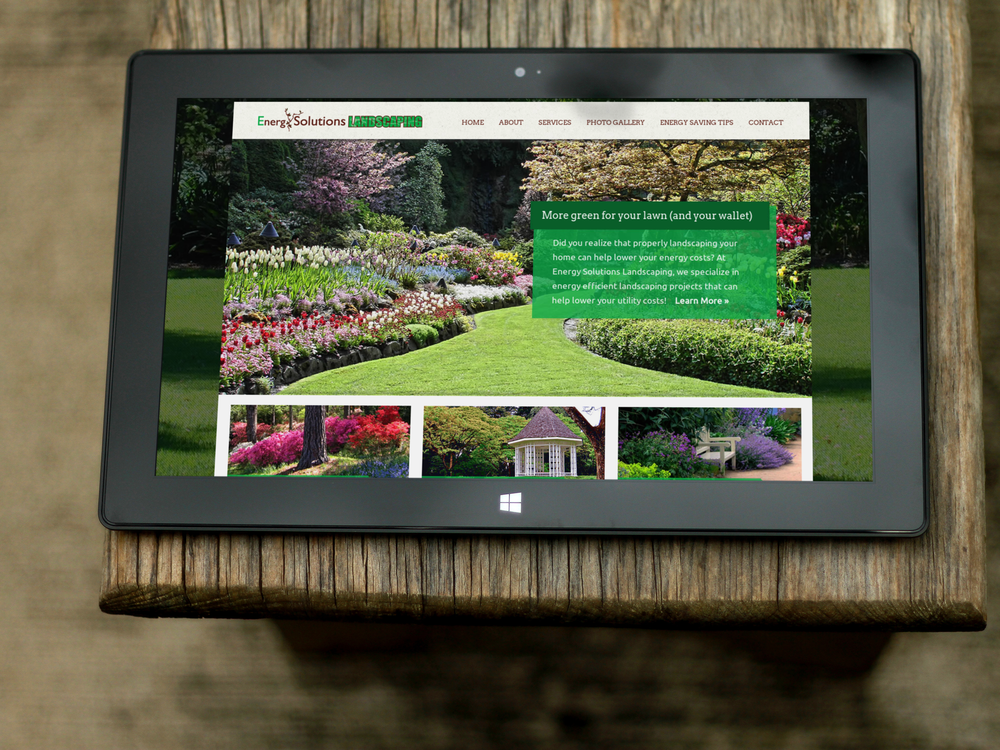Custom website for Energy Solutions Landscaping in Knoxville, Tennessee