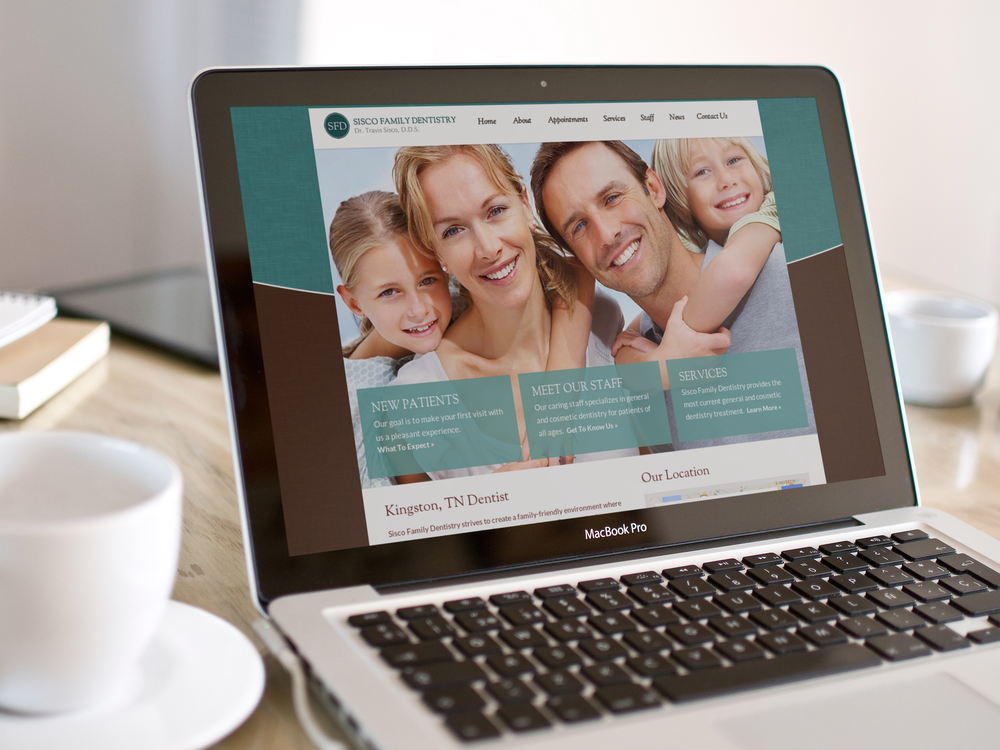 Custom website for Sisco Family Dentistry in Kingston, Tennessee