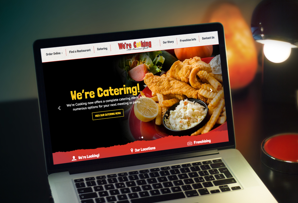 We're Cooking Website    Services provided: Responsive Website Design & Development, Custom Wordpress Theme Development