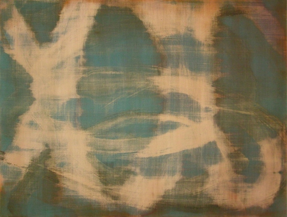 "Dance, 2011   Acrylic on Yupo, 19"" x 25"""
