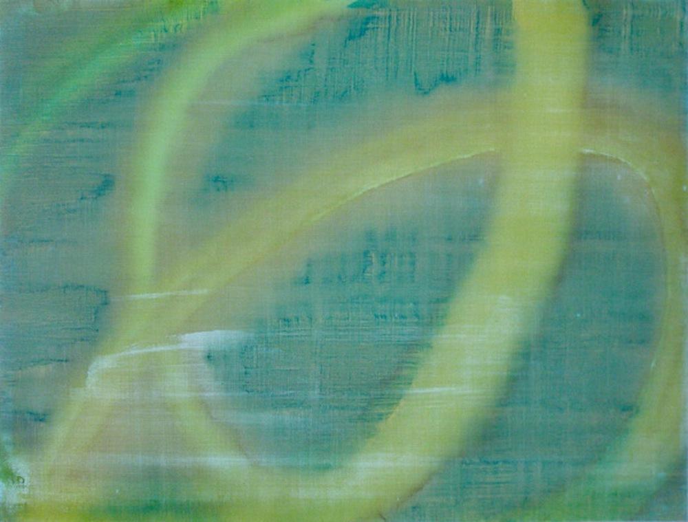 "Orbital, 2011   Acrylic on Yupo, 19"" x 25"""