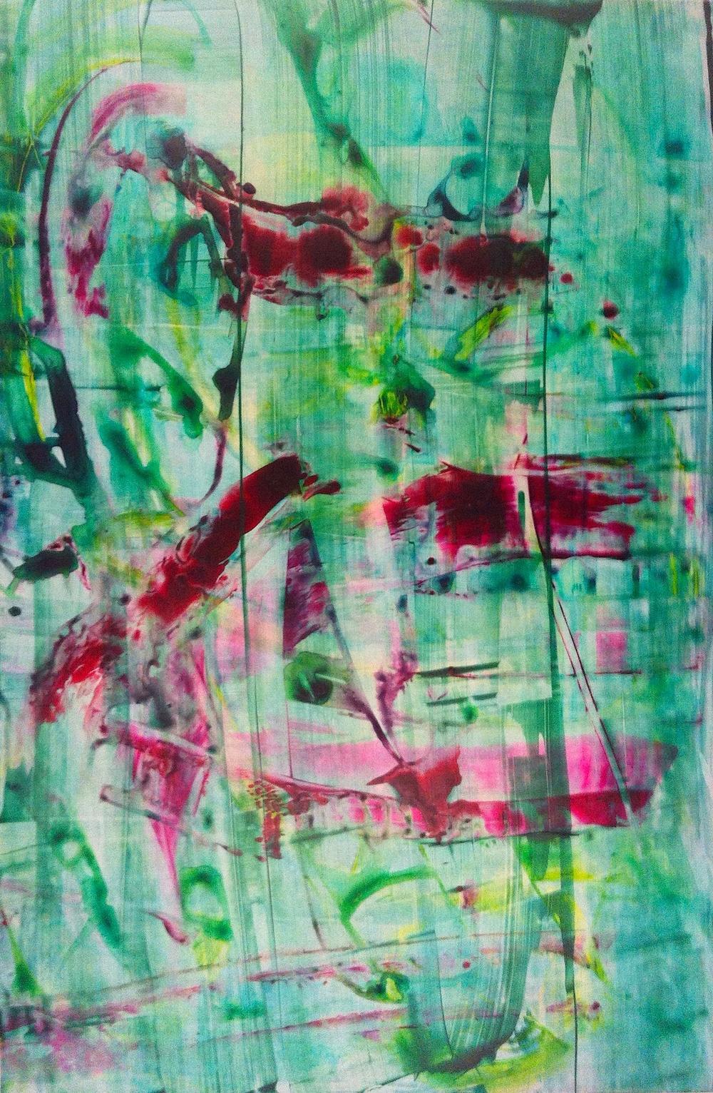 "Trip Drop, 2012   Acrylic on Yupo, 19"" x 13"""