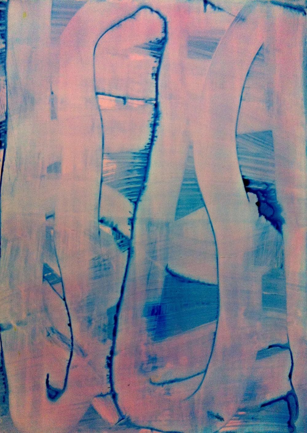 """Blink, 2012   Acrylic on Yupo, 28"""" x 20"""""""