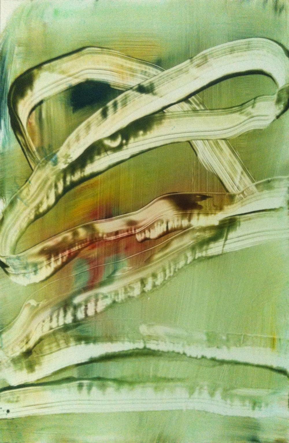 """Careening, 2013   Acrylic on Yupo, 18"""" x 12"""""""