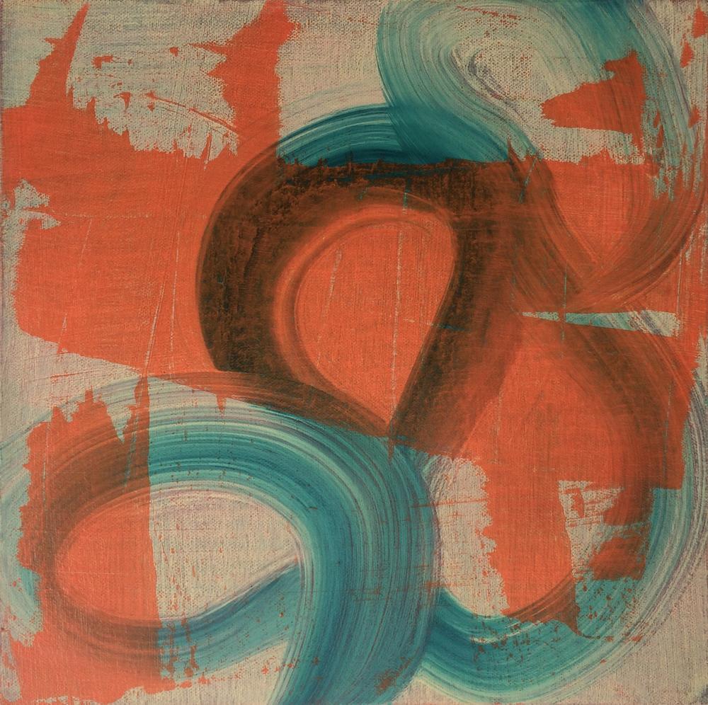 "Push It, 2014   Acrylic on canvas, 12"" x 12"""