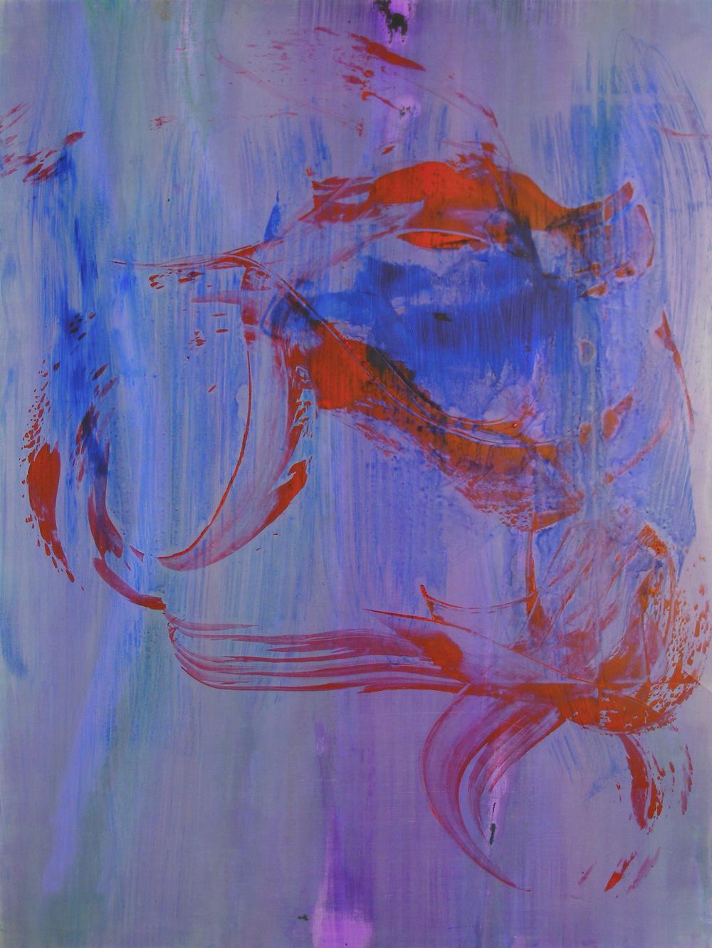 "Chesapeake, 2014   Acrylic on Yupo, 25"" x 19"""