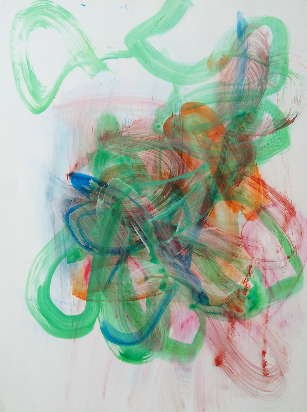 """Bloom, 2015    A  crylic on paper    23"""" x 17.5"""""""