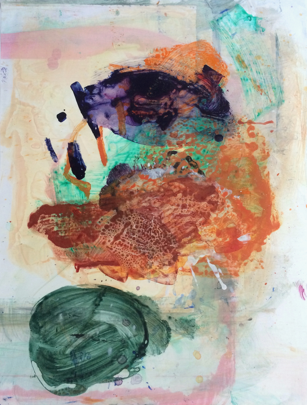 "Imprint, 2015   Acrylic on Yupo, 25"" x 19"""