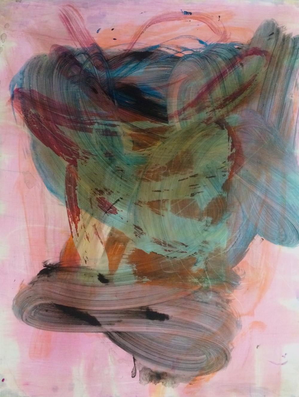 """Float, 2016   Acrylic on Yupo, 23"""" x 17.5"""""""