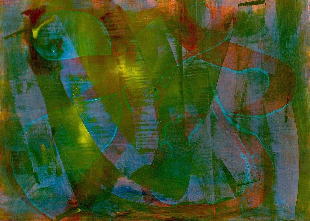 """Jungle, 2013   Acrylic on Yupo, 20"""" x 28"""""""