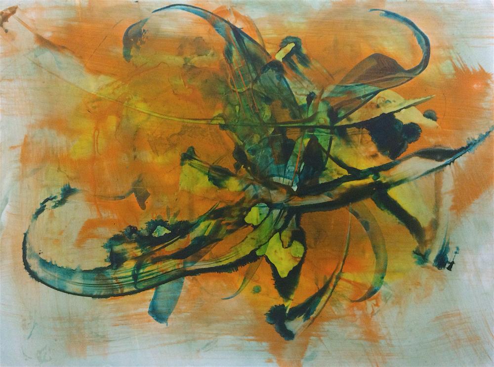 """Heat, 2015    Acrylic on paper    17.5"""" x 23"""""""