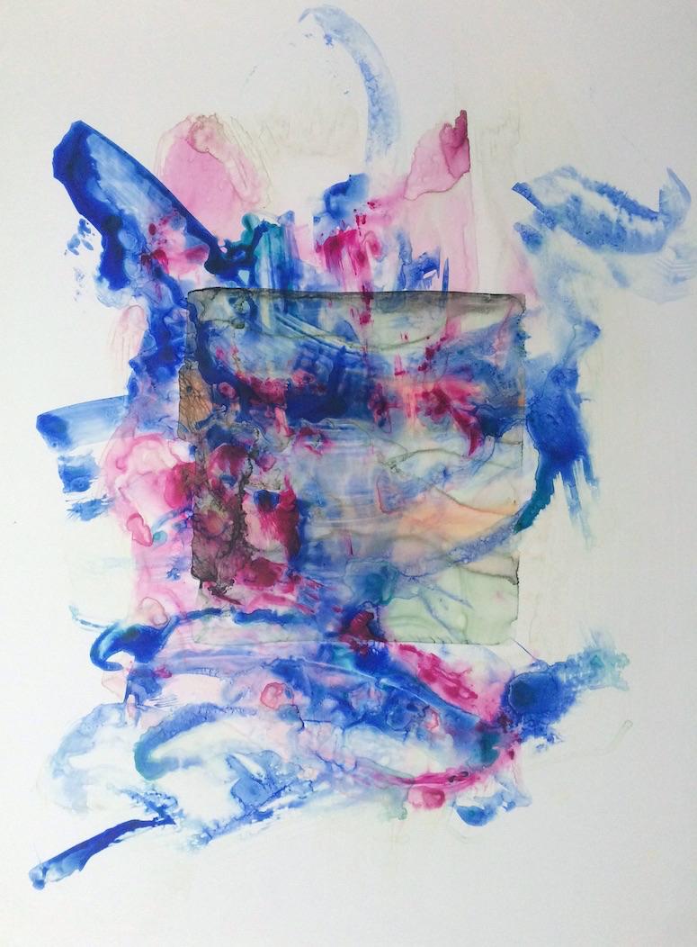 "Cover, 2015   Acrylic on Yupo, 25"" x 19"""