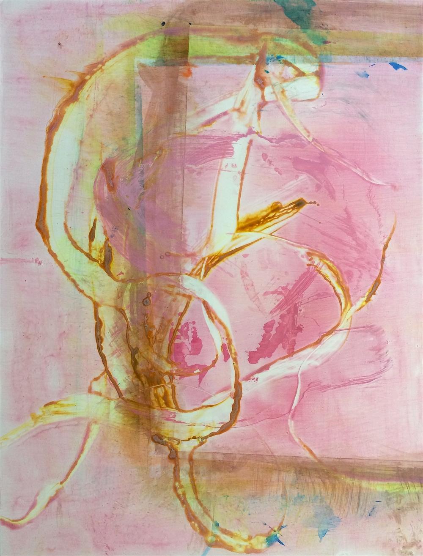 "Sting, 2015    Acrylic on paper    25"" x 19"""