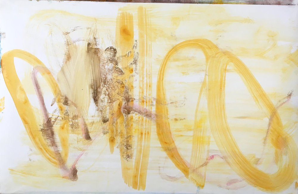 """Deal  Acylic on paper 25"""" x 38"""""""