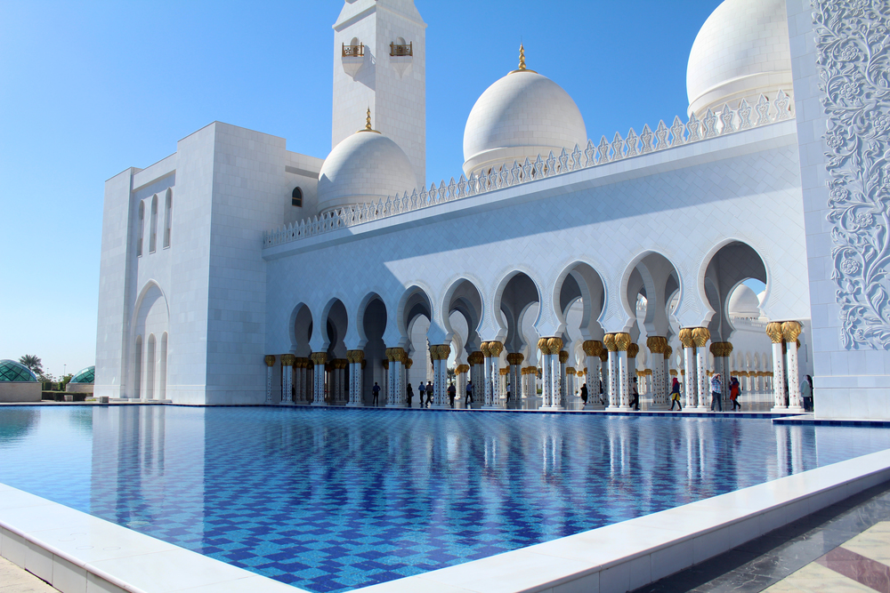 Grand Mosque, Abu Dhabi, United Arab Emirates.
