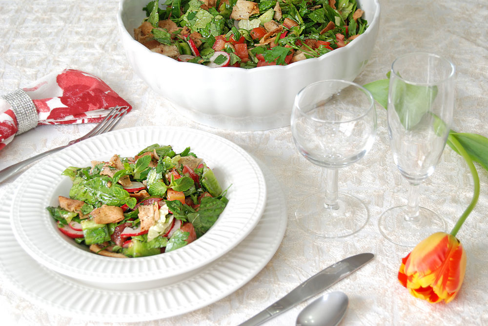 how to make fattoush salad lebanese