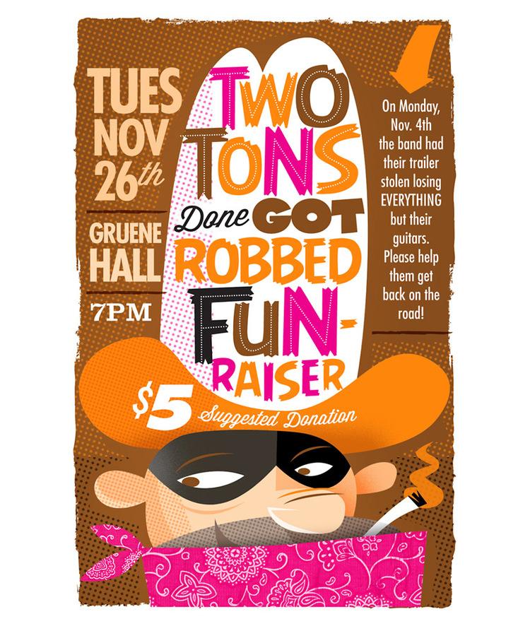 two tons of steel fun raiser poster by dennis ochoa