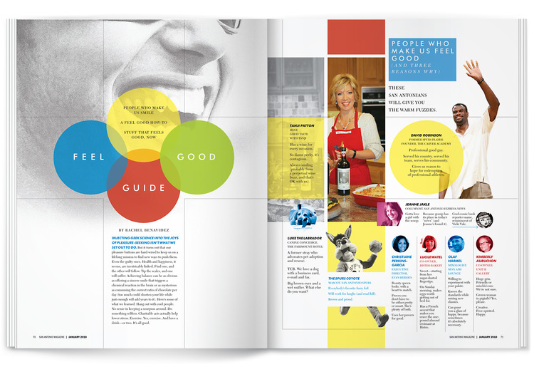 feel good guide feature layout design by dennis ochoa