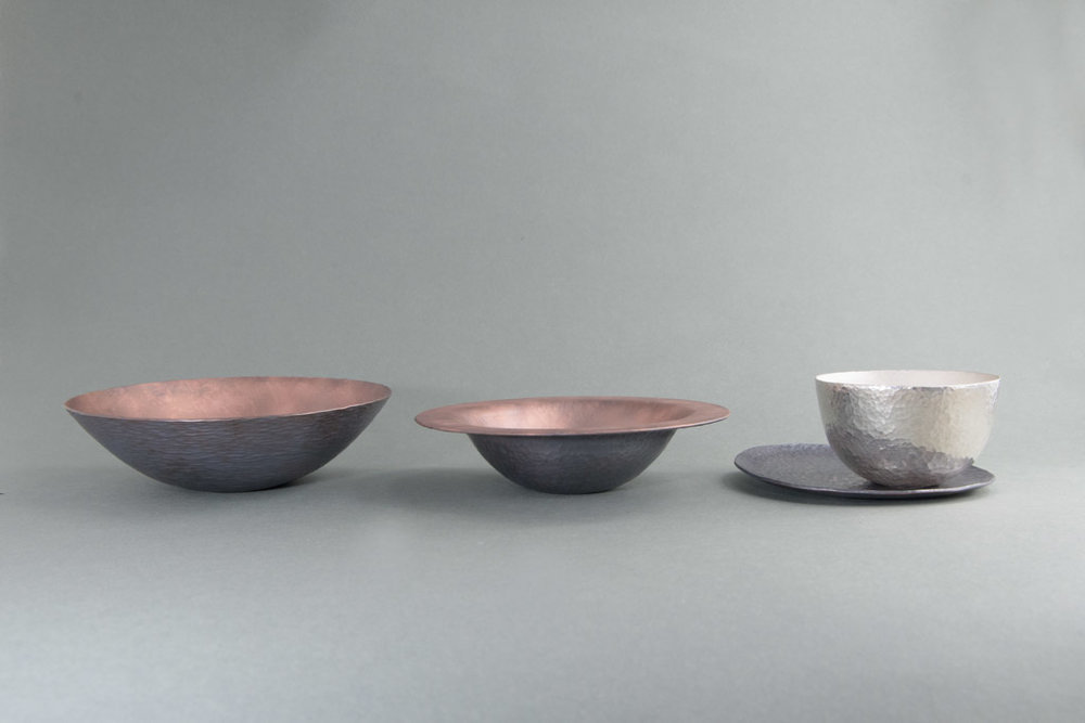 Forging vessel - Silver and colored copper