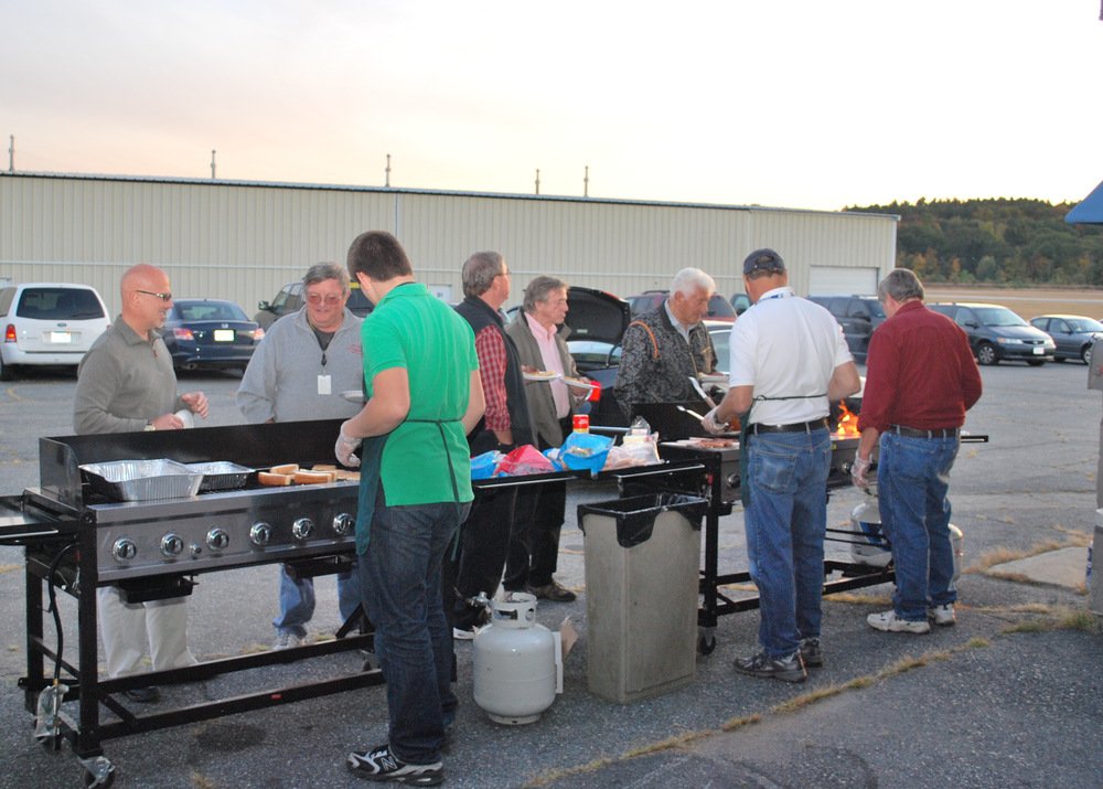 FPA holding a cookout at their meeting.