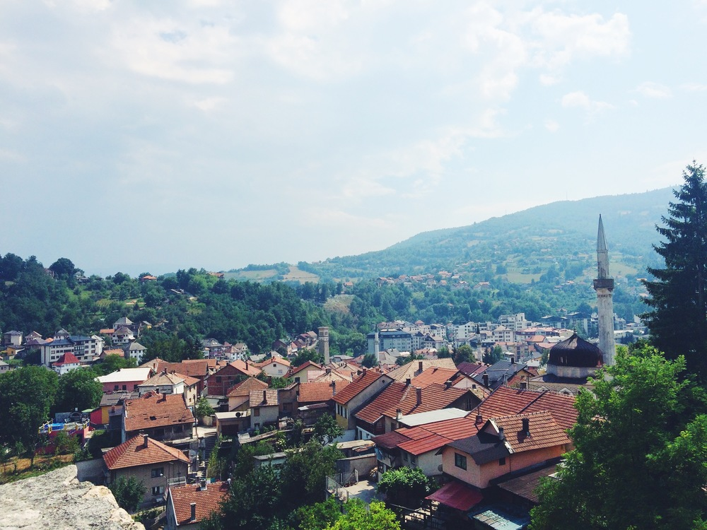 View from the top of Travnik Castle