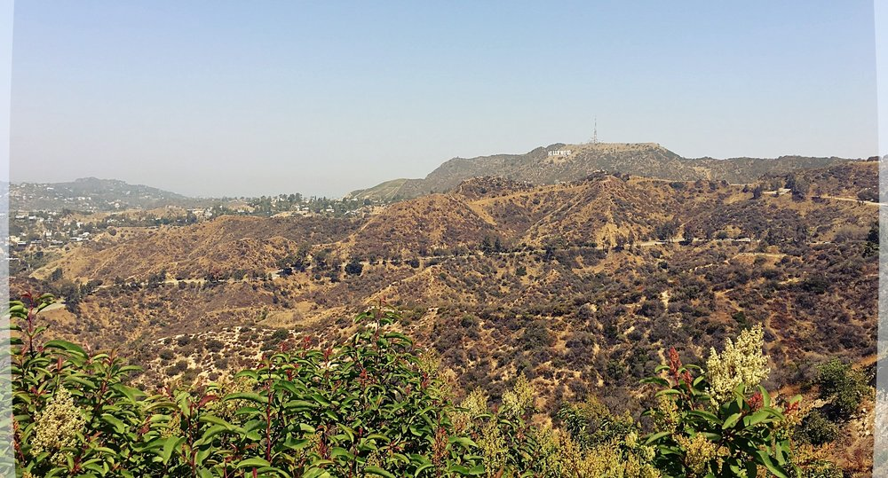 View of the Hollywood sign from Griffith Observatory.