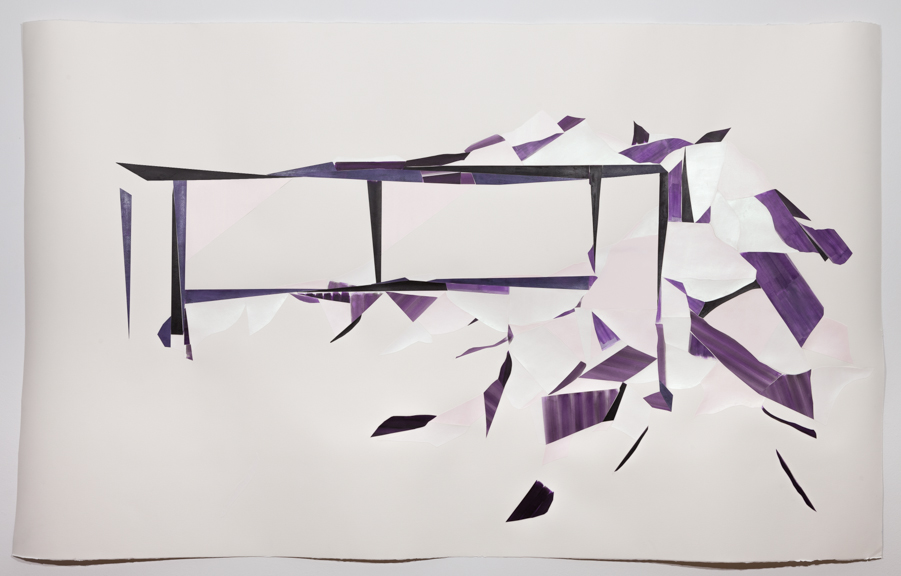 Lavender miracle   Acrylic on watercolor paper on Arches paper   51 x 84 inches   2013