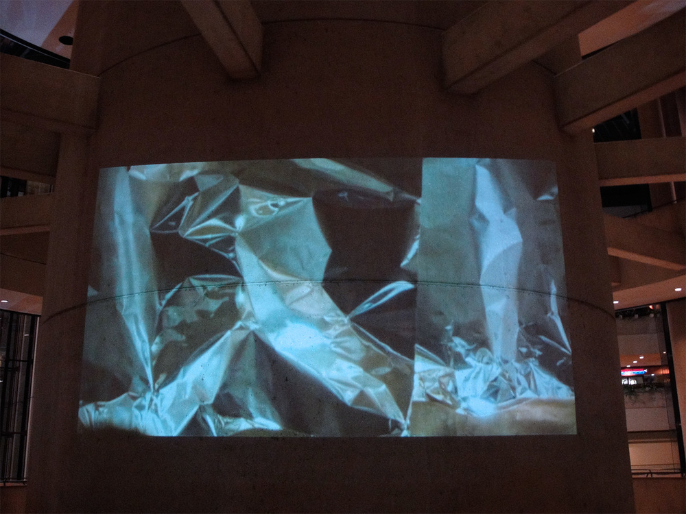 Installation view, video projection, Bonaventure Hotel, Los Angeles, 2011