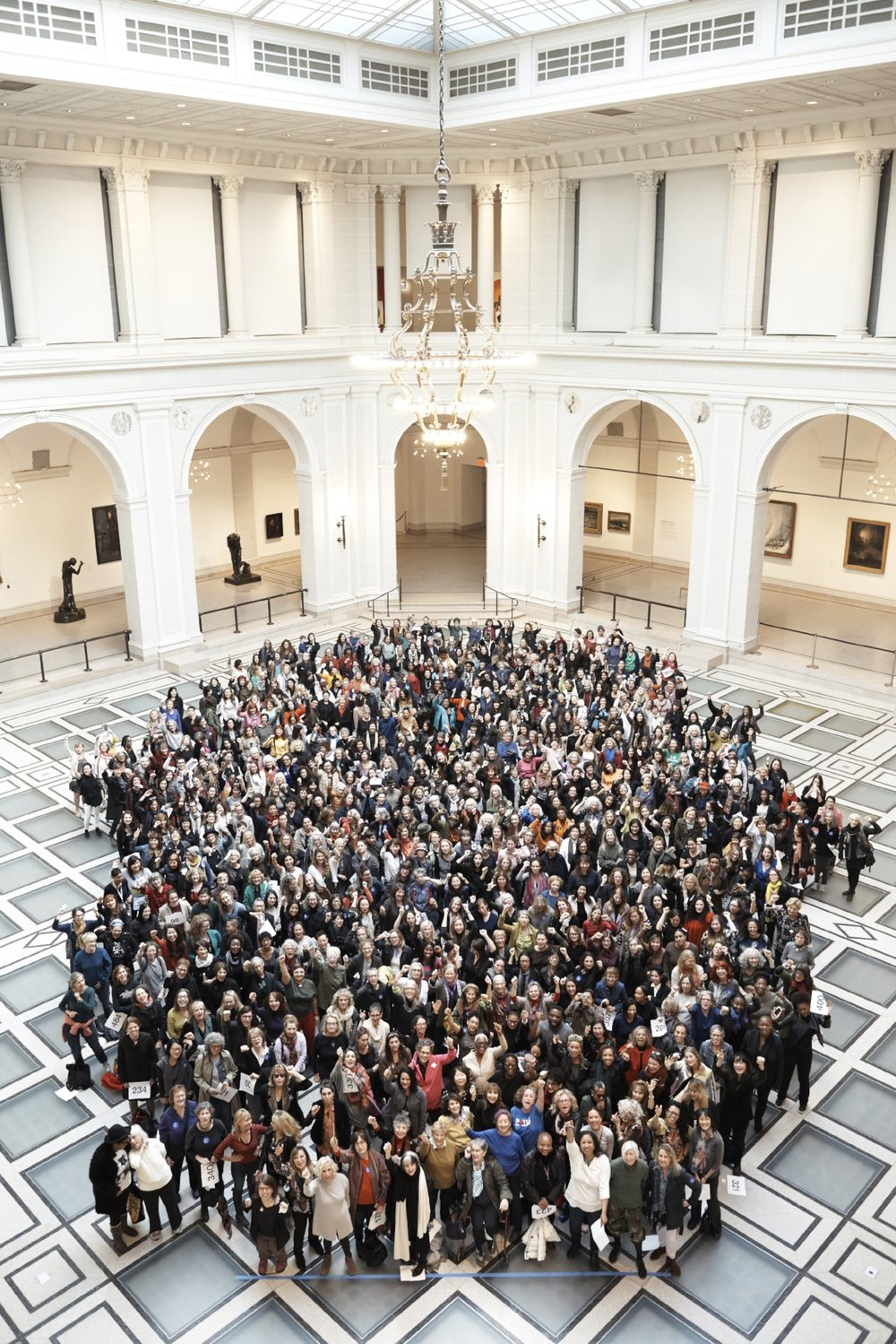 """Now Be Here #2, NYC"" (2016) photo by Paola Kudacki, courtesy Kim Schoenstadt, Shinique Smith, and The Brooklyn Museum Link to participants: ""Now Be Here #2, NYC"""