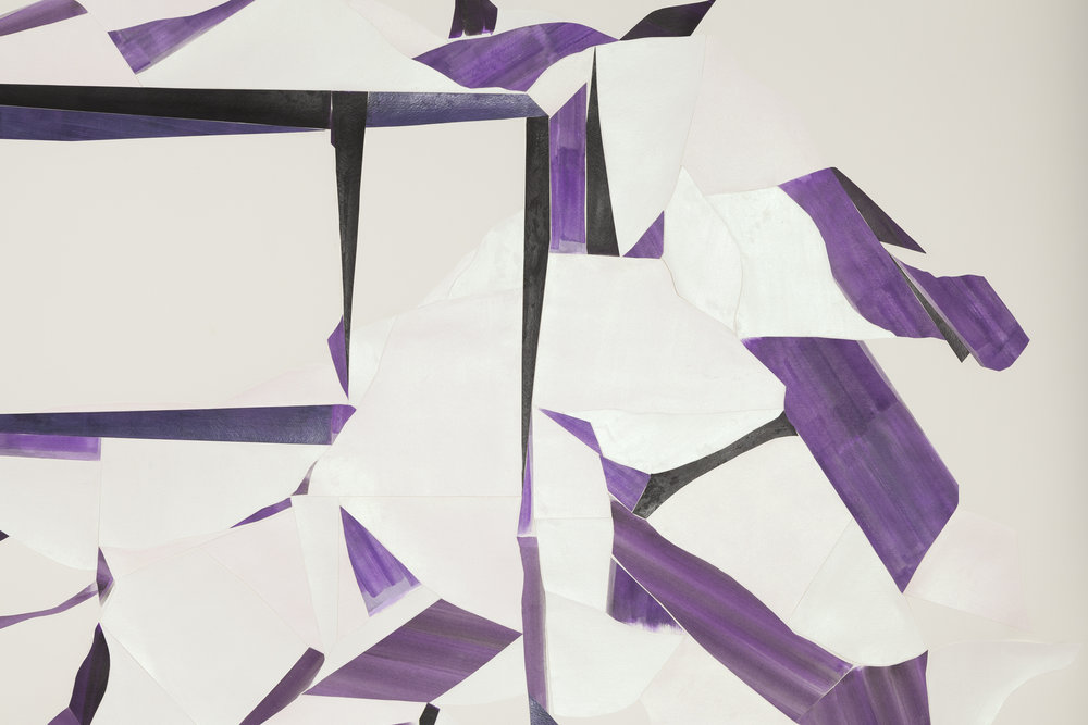Lavender miracle  (Detail) Acrylic on watercolor paper on Arches paper 51 x 84 inches 2013