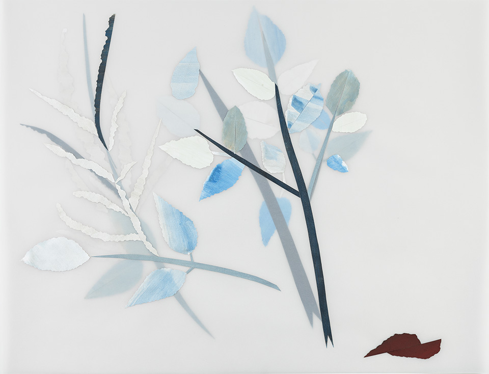 Blue fields, after Anna Atkins, v. 1,    2014