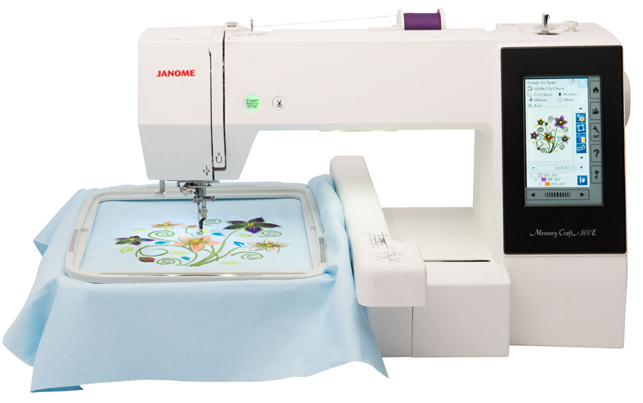 Janome 500E * 2 and 3 letter monogramming * on screen editing, combine, arc, rotating etc. * 160 built in designs