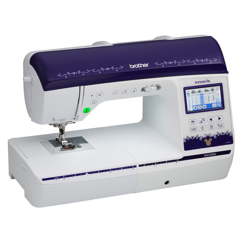 Brother NQ3500D  * 290 built-in stitches  * 173 built-in embroidery designs 35 designs featuring  * 11 fonts  * automatic height adjustment feature  * USB port  * enhanced my custom stitch