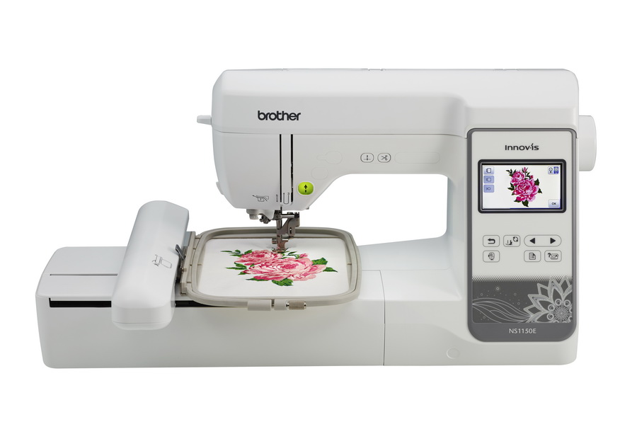 Brother NS1150E * 5x7 embroidery area * Color LCD screen * built-in USB port * advanced needle threading system * on screen help * quick set bobbin * 138 built-in designs