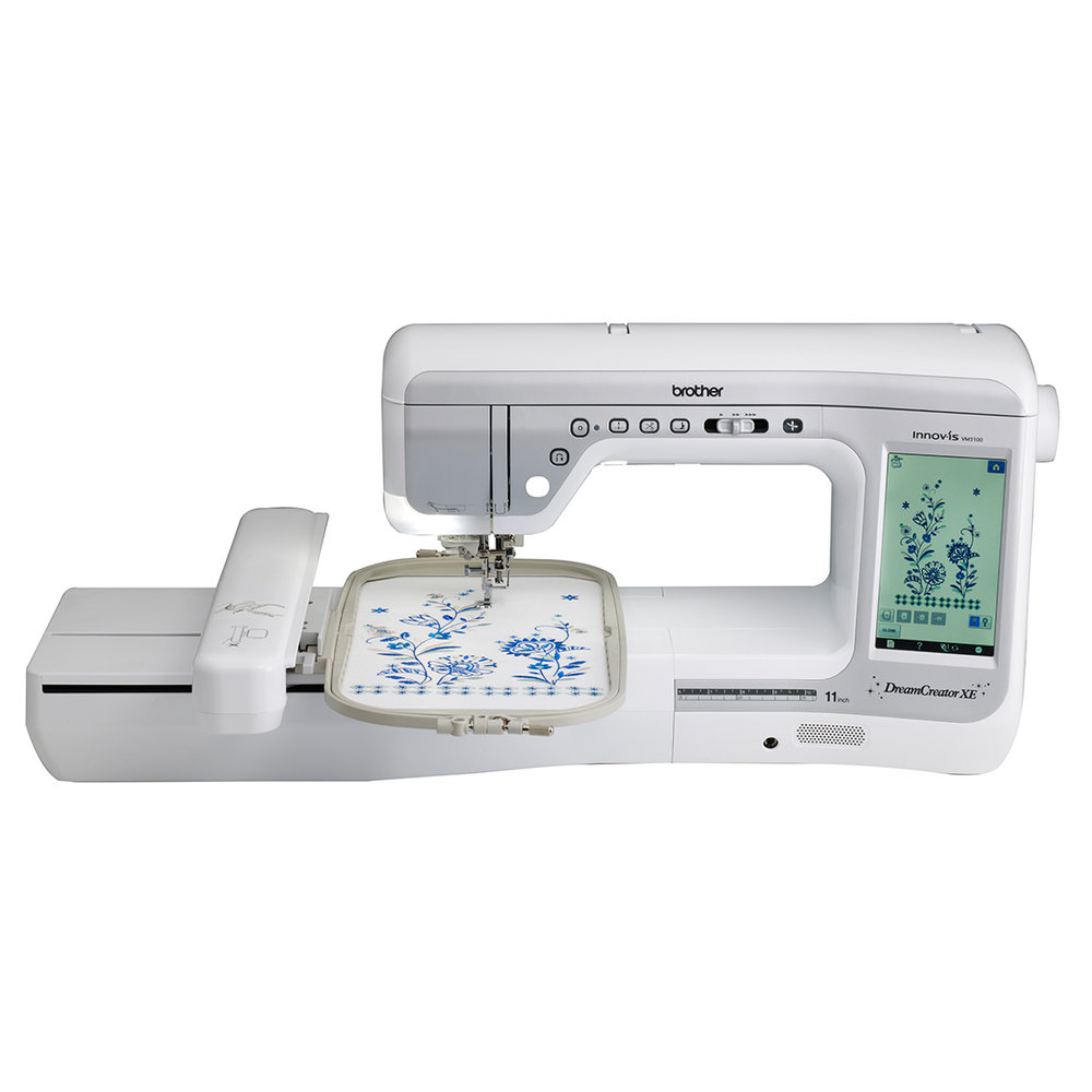 Brother VM5100  * 551 sewing stitches ( 30 on CD )  * 318 embroidery designs  * pivot function  * knee lifter  * automatic height Adjuster  * automated upper and lower thread cutter